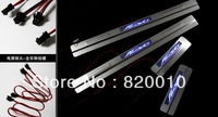 Free Ship  LED Stainless Steel Door Sill Scuff Plate Guard Trim for FORD FIESTA 2005 2006 2007 2008 2009 2010 2011 2012