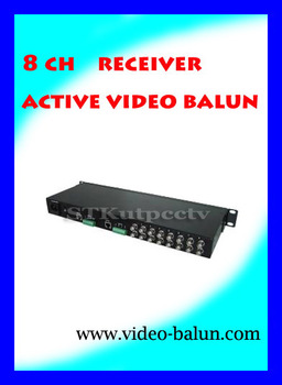 8 channel  ACTIVE  video balun factory manufacture,Analog Camera Accessories