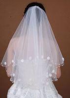 v4 Free shipping Wedding Bridal veils Dress lace Wedding Accessories 137*127cm bridal veils 2014
