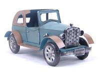 C6C  Metal handicraft iron color convertible classic car wecker model  free shipping