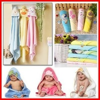 Free Shipping  (25pcs/lot) High Quality Children's Embroidery 100% Cotton  Bathrobe Baby Carton Kids Bath Towel