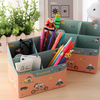 10PCS Desktop storage box storage box finishing box stationery