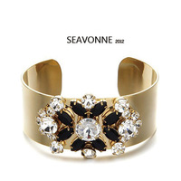 Free Shipping 2013 Vintage Metal Fashion Bangles Hot Wholesale Crystal gold Bangle and Bracelet dropshipping  B8652