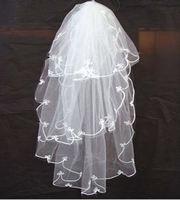 v10 Free shipping Wedding Bridal veils Dress Wedding Accessories 150cm 3 layers bridal veils 2014
