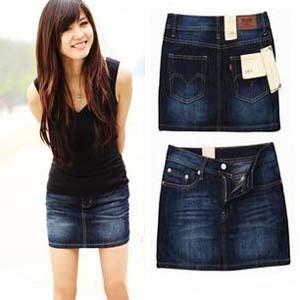 2014 Fashion Slim Hip Bust Plus Size Casual Women's Skirts Ladies' Jeans Skirt Short Mini Denim Skirt