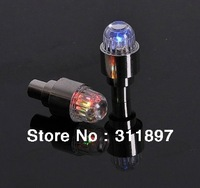 Bicycle Car Bike Tire Tyre Metal + Acrylic Valve Core Cap Light Colorful LED Flashing Wheel Warning Lights 10pcs/lot