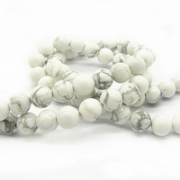 8mm 100pcs Fashion Natural White Turquoise Stone Beads Wholesale Round Loose Beads for DIY Jewelry Findings Free Shipping HB526