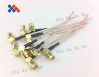 SMA male right angle pigtail cable with 10CM/20CM/30CM RG316 cable Customized Free shipping
