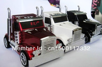 wholesale - Truck Shape digital mini car Speaker For Iphone Ipod with USB FM MP3 TF Free shipping