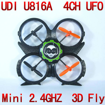 New Arrival UDI U816A 2.4G 4CH Mini RC 4 Axis UFO Aircraft Quadcopter RTF quad helicopter U816 Upgrade NSWB
