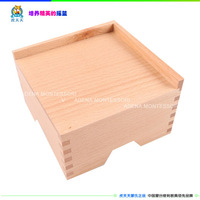 Montessori teaching aids pink tower base pedestal a041 kids,baby,children baby puzzle the educational wooden toys
