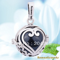 H55-C Fashion Mexican bola Pendant 18mm 925 Silver Cage and 16mm Harmony ball ringing chime Pendant for Pregnant