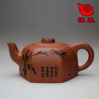 Yixing teapot tea set gift tea hexagonal pot purple 250cc ask the lowest postage