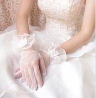 g9  Free shipping Wedding Bridal gloves  Dress Wedding Accessories finger wrist short bridal gloves 2014