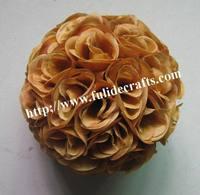 30cm brown/coffee silk flower wedding kissing ball optional-color-plastic inner