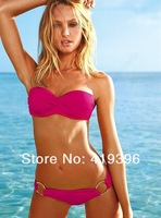Bikini 2013 In Stock Free Shipping CL37049 Rose Color Sexy Beach Bikini High Quality Mature Bikini