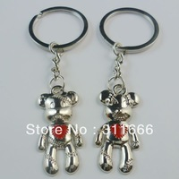 12 pairs/lot Free shipping Alloy Key chain/King holder/Key ring Hot sale for lover
