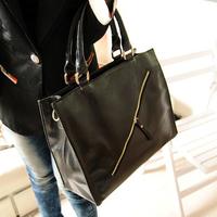 Bag brief casual black big bags fashion vintage handbag bags messenger bag Free shipping Hot sale