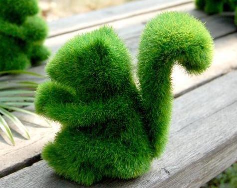 Grass land artificial grass animal,Pure hand-made artificial grass animals,home decor crafts , novelty item cute Squirrel(China (Mainland))