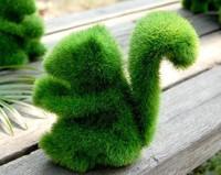 Grass land artificial grass animal,Pure hand-made artificial grass animals,home decor crafts , novelty item cute Squirrel