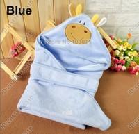 Newborn Baby Kid Child Infant Toddler Swaddle Me Swaddling Wrap Blanket Sleeping Bag Sleepsack Sleep Sack Growbag Hooded--Blue