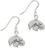 Free shipping 20pairs Iowa Hawkeyes School Charm Earrings