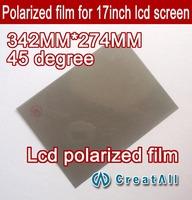 10pcs 17'' lcd polarizer film, lcd polarized film for 17 inch screen,45 degree lcd polaroid,45 angle of view polarizing film