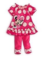 Free Shipping children'set (5pcs/set)  Girls set Mickey Mouse printing design Short skirts+pants