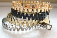 Fashion Punk Texture Of The Metal Zipper Bracelet Women's Zipper Bangles MIni 20 pcs(Each color is 5 pcs)