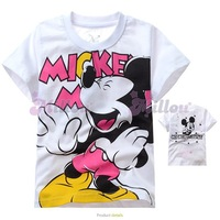 free shipping new barnd cotton children t shirt short sleeve cartoon clothing Minnie Mouse 5pcs/lot