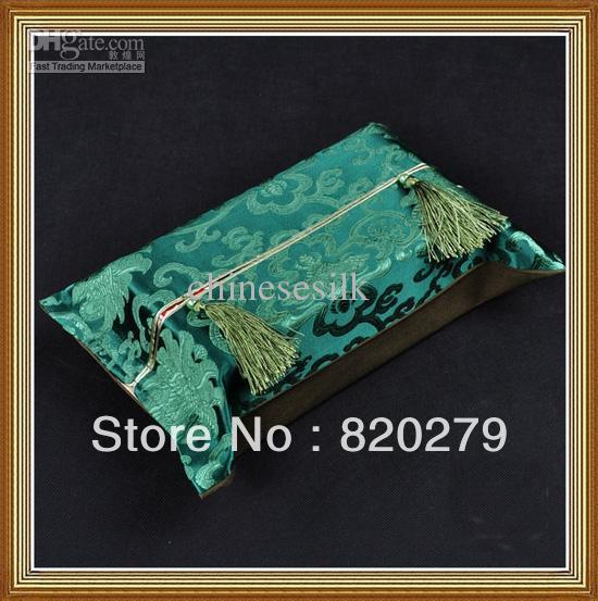 Classic Kleenex Box Covers High quality 100% Silk Tassel Flower Pattern 10pcs/pack mix Free(China (Mainland))
