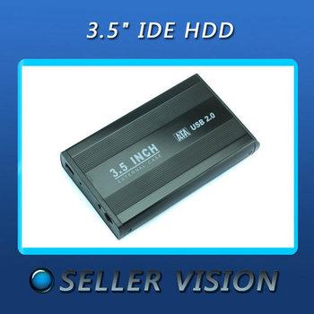 "Hotsale 3.5"" SATA HDD External Case Enclosure 3.5 inch USB 2.0 Hard Drive Disk"
