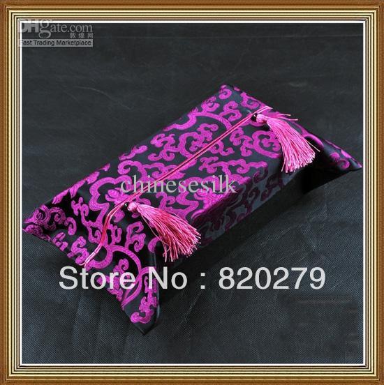 Kleenex Tissue Box Designs High quality Chinese 100% Silk Fabric Tassel Crafts 10pcs/lot mix Free(China (Mainland))
