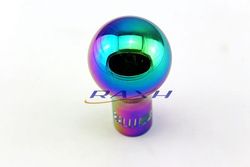 SPECIAL OFFER Aluminum Ralliart Auto Shift Knob Fit for Mitsubishi MT Car Rainbow 8mm, 10mm, 12mm(China (Mainland))