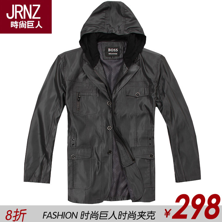 2012 spring plus size men&#39;s clothing male plus size jacket light weight fabric commercial outerwear male plus size plus size(China (Mainland))
