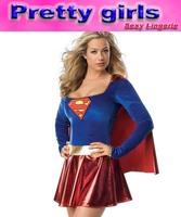 free shipping ,wholesale , superwoman costume m4573