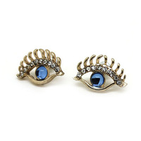 Free Shipping 2013 Newest Kind Fashion Unique Top Shop Eye Ear Stud  Jewelry For Women OY13032310