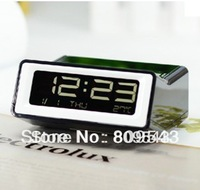 Free Shipping New Arrive Creative Projection Clock Digital Alarm Clock (Black)