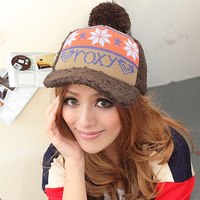 Autumn and winter plush knitted berber fleece thermal winter thickening baseball cap