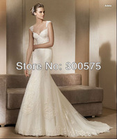 2013New style white/ivory appliques Wedding Dress Gown Custom-made Size Bridal Dress