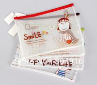 FIRST LINE Fashion Stationery A4 PVC Mesh Bag File Document Bag File Holder Storage bag ST0872-1