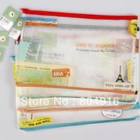 FIRST LINE Fashion Stationery A4 PVC Mesh Bag File Document Bag File Holder Storage bag ST0872-2
