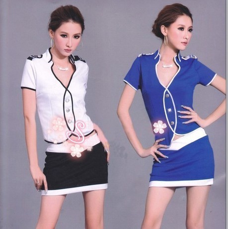 Stewardess clothing work wear professional ds costume set sauna service(China (Mainland))