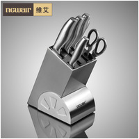 Stainless steel kitchen set cutting tool 7 piece pre set knife kitchen knife kitchen catering free shipping