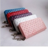 FREE SHIPPING 2014 new wholesale & retail patent leather wallet fashion women zipper bag