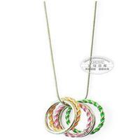 Accessories multicolour oil ring necklace female k7033