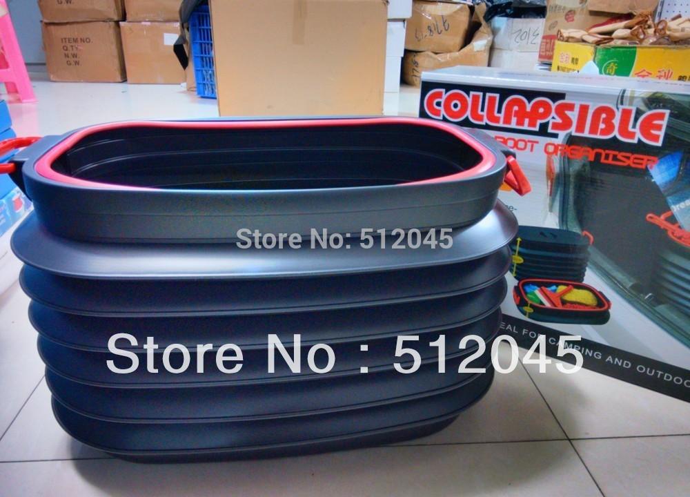 40L Car magic glove box folding retractable trash bucket car garbage bucket free shipping(China (Mainland))