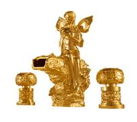 Free shipping  gold clour  Widespread Bathroom bathtub  Faucet