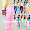 Trend Knitting Free shipping 2013 new  Slim show thin  Elastic jeans feet color pencil pants Sexy women Big Yards HOT SAEL