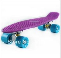 "Free Shipping Retro Plastic 22"" Penny Skateboard Cruiser Complete PU 70's (Penny) Complete Mini Longboard Skate Board"